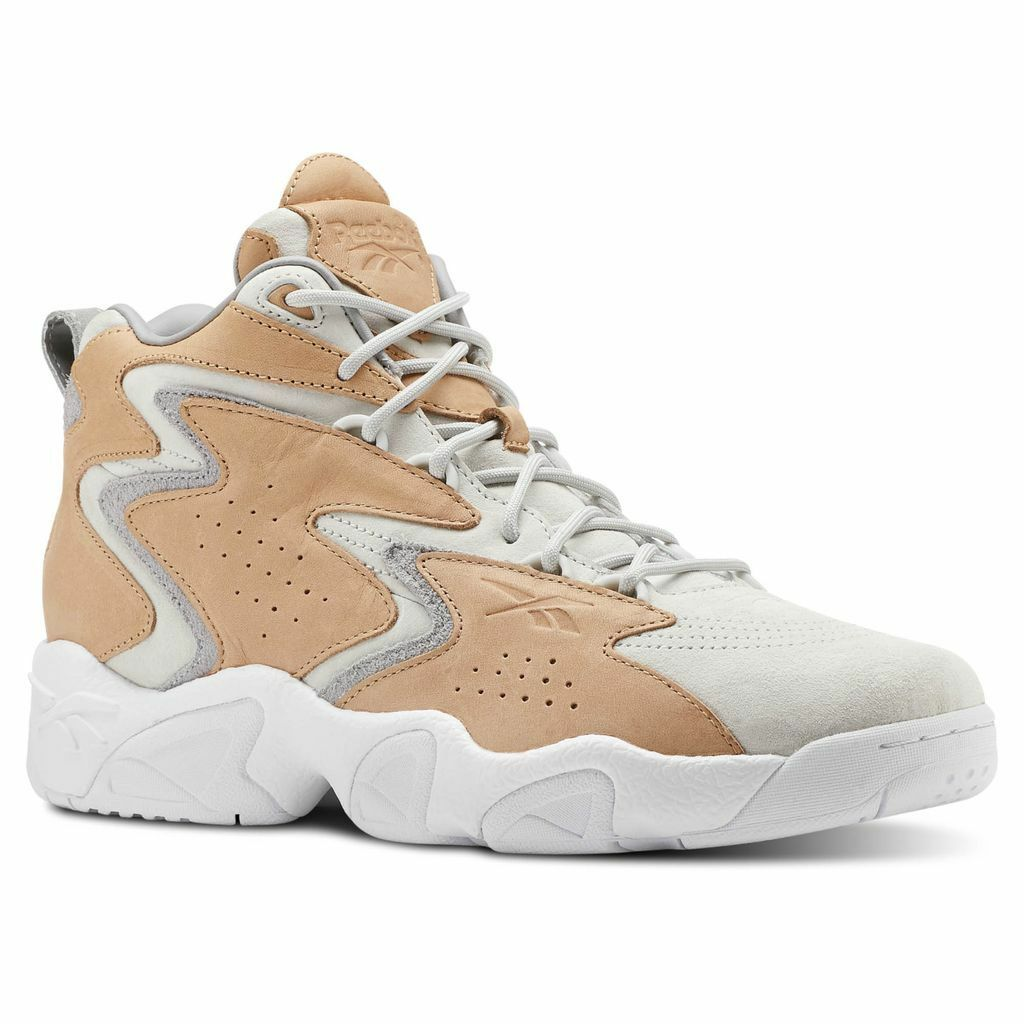 Reebok Mobius OG MU Tan   CN7887   Men's Classics Basketball Retro Leather Grey