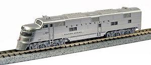 KATO-1765401-N-CB-amp-Q-Burlington-9910A-EMD-E5A-Diesel-N-Scale-176-5401-NEW