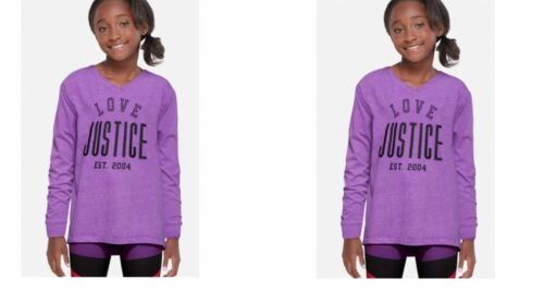 JUSTICE GIRLS PURPLE ACTIVE LOGO LONG SLEEVE TEE MULTI SIZES NEW WITH TAGS