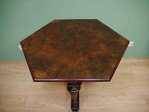 Gründerzeit Salontisch Tisch 6 Eckig Nussbaum Um 1880 Ebay