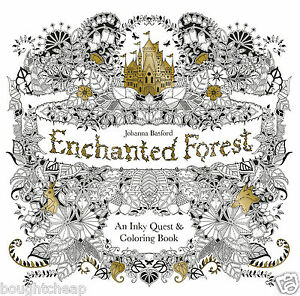 Image Is Loading Enchanted Forest Colouring Book By Johanna Basford