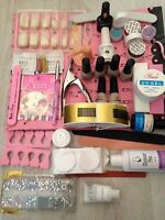 (b7) Pro Uv Led Gel Polish Nail Manicure Kit Top Base Coat Nail Primer Kit Set