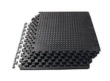 ProSource Fs-1908-pzzl Puzzle Exercise Mat Eva Foam Interlocking Tiles Black 24
