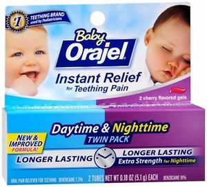 Baby Orajel Daytime Nighttime Instant Relief For