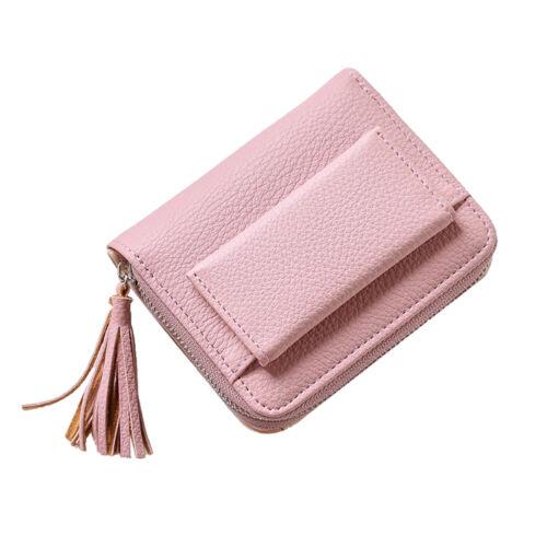 Women Small Wallet Tassel Pendant Zipper Pouch Coin Pocket Purses Card Holder