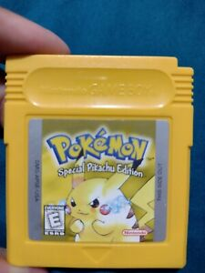 GREAT ! Pokemon Yellow Version New Battery Can Save AUTHENTIC Game Boy Color
