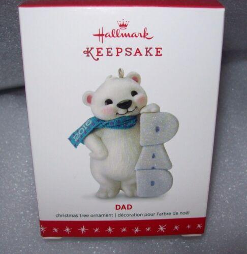 2016 HALLMARK KEEPSAKE CHRISTMAS ORNAMENTS DAD OR SON POLAR BEARS NEW IN BOX