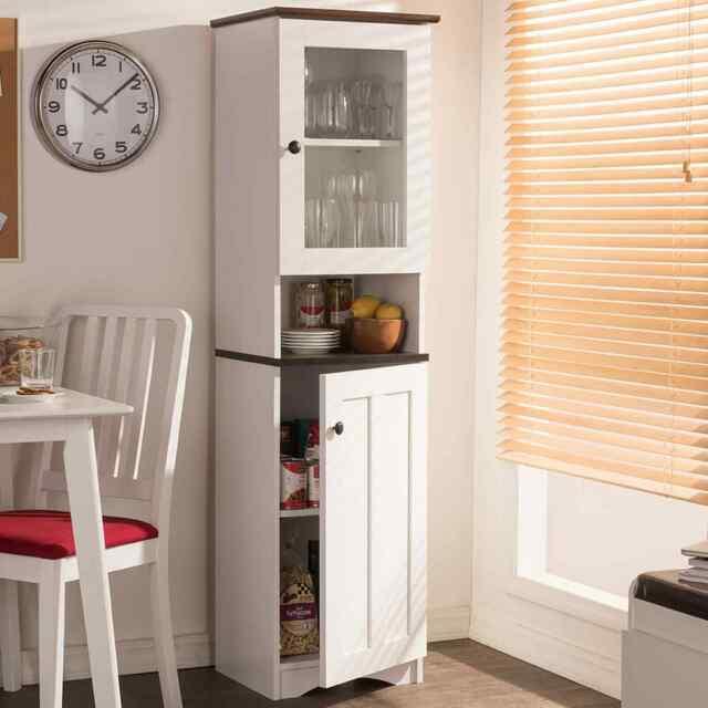 Tall Kitchen Pantry Cabinet Shelf Storage Organizer Freestanding