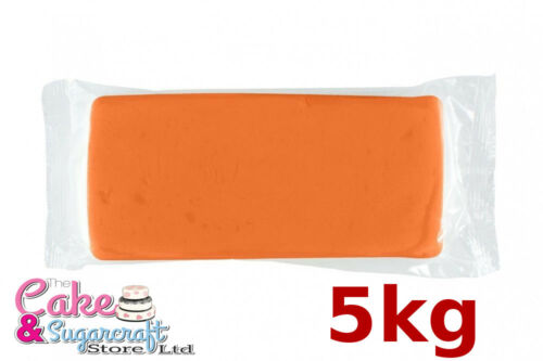 Sugarpaste Icing Orange M/&B 5 kg Ready to Roll Luxury Bulk Discount