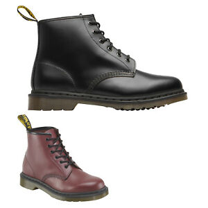 Dr-Martens-101-Smooth-Leather-Womens-Mens-Ankle-Combat-Unisex-Boots