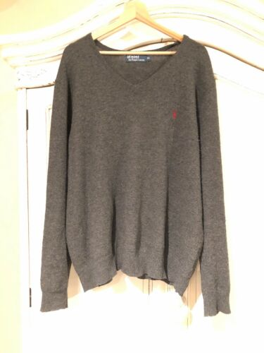 Xl Neck Ralph Lauren Polo V Grey Jumper UPnqF01