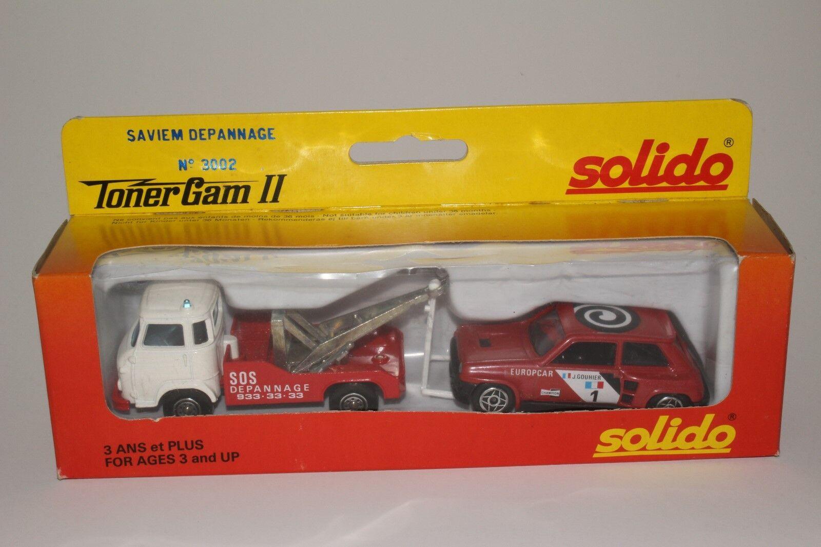 Solido  3002 Depannage Strandräuber mit Sedan Schön mit Schachtel