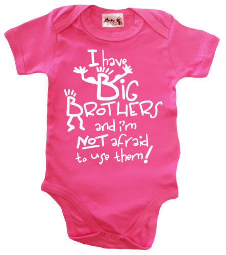"""Funny Baby Bodysuit /""""I Have Big Brothers/"""" Baby grow Vest Baby Clothes"""