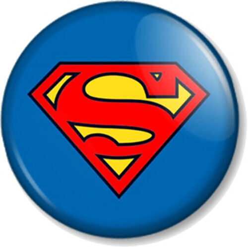 Superman / Superwoman Logo 25mm Pin Button Badge Superhero Crest DC Comic Books for sale online | eBay