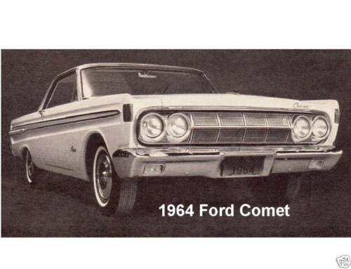 1964 Ford Comet  Auto Refrigerator Tool Box Magnet Gift Card Insert