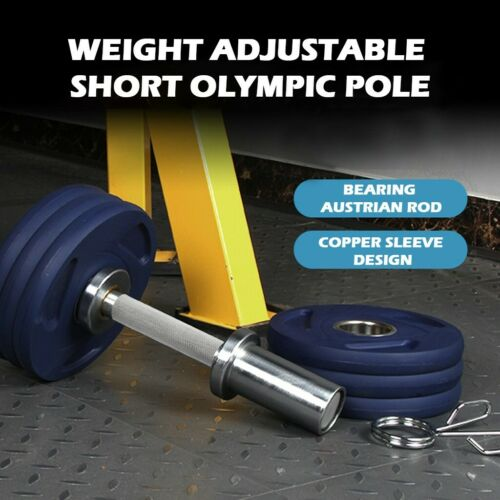 """2x Olympic 20/"""" Dumbbell Bars Spring Collars Weight Lifting Gym Dumbell Handles"""