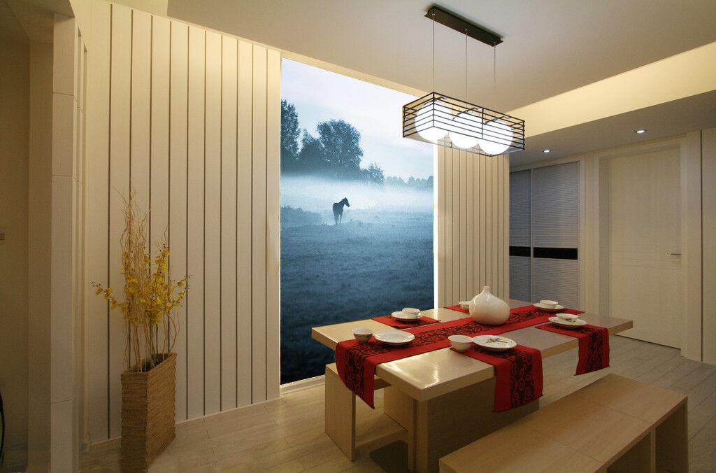 3d cavallo nebbia Prato 74 carta da parati da muro dipinto carta da parati parati carta da parati immagine famiglia de Summer 2c26b2