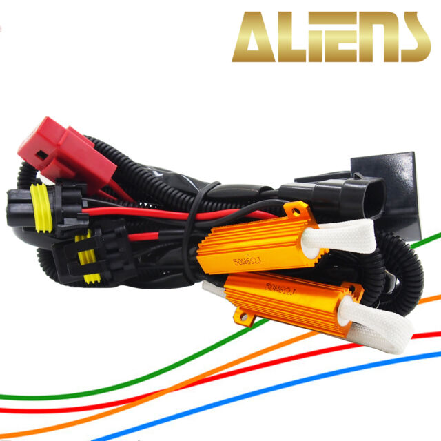aliens xenon hid conversion kit relay wiring harness h1 h3 h7 h10 rh ebay com