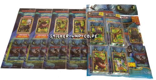 toutes les 4 Multip.//Blister Blue Ocean Dragon 3 trading cards Conditionnement