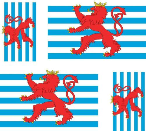 4 x flag decals sticker bike car vinyl helmet motorcycle luxembourg lion