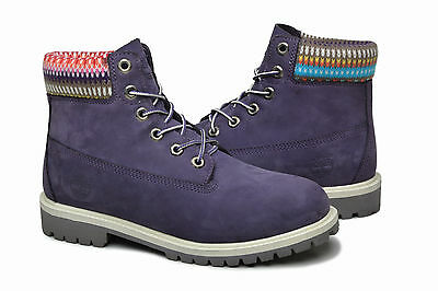 "Timberland Classic 6"" Premium Boot Boy Youth 9595R Purple Nubuck"