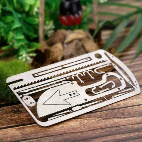 Details about  /Survival Multitool Stainless Steel Credit Card Size Emergency Kit 4 OPTIONS