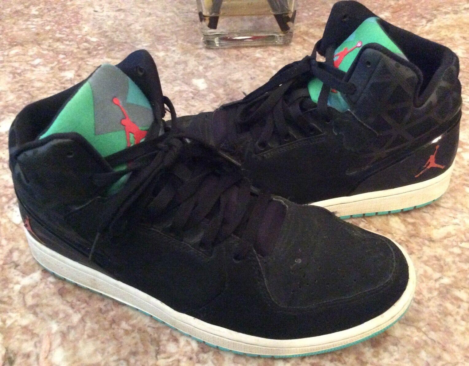 Wild casual shoes Nike Air Jordan 1 Flight 3 Men's Black/turquoise Sneakers Sz 11 - 743188-006