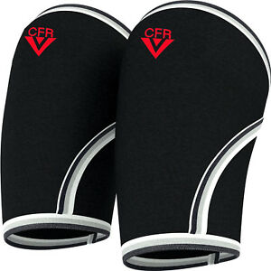 Pair Knee Support Sleeve for CrossFit - Squats Weight lifting Powerlifting 7mm