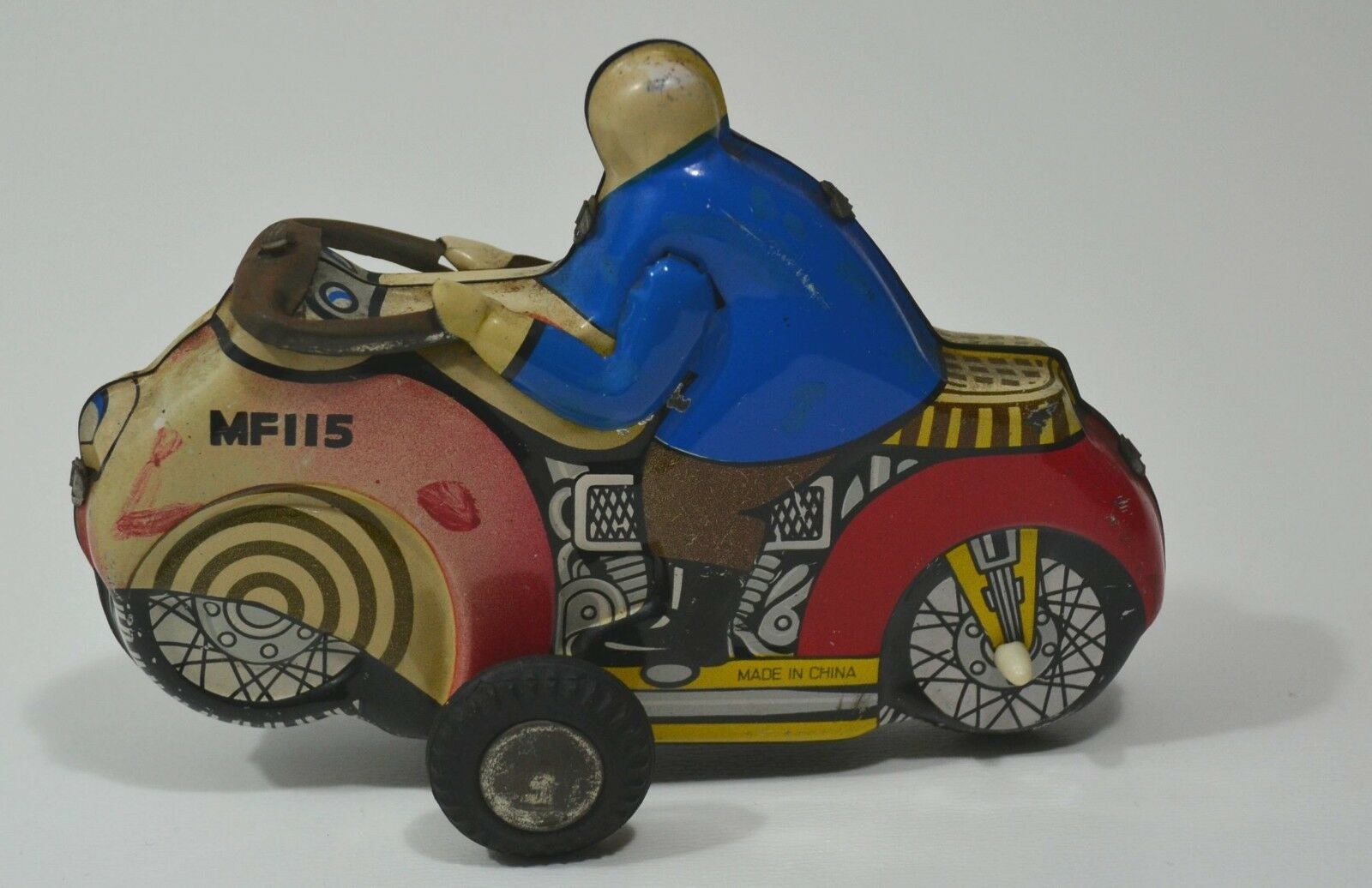 Old Tin Toy Motorcycle, MF 115