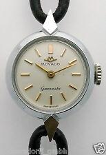 MOVADO QUEENMATIC DAMEN ARMBANDUHR Kaliber 165 - 9906 SELTEN !!!- 1940er-1950er