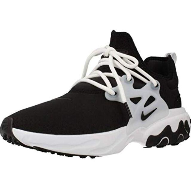 Nike React Presto Ghost Black White