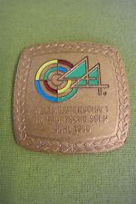 DDR Plakette - Weltmeisterschaft im Sportschiessen - Suhl 1986 - Bronze - Etui