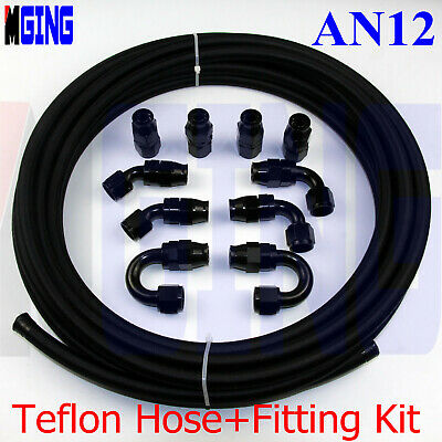 PTFE  Black Nylon 6AN AN6 6-AN OIL E85 Ethanol Fuel HOSE 25FT