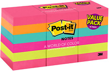 1800 Sheet Post It Notes 15x2 Pack Lot Sticky Pad Assorted Colors Yellow 3m