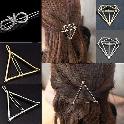 Cute Fashion Women Gold & Silver Flower Metal Hairpin Hair Clip Hair Accessories