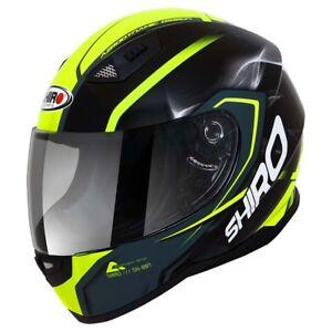 Casco-Integrale-Helmet-SHIRO-SH-881-MOTEGI-Nero-Giallo-Fluo-Black-Yellow-XL