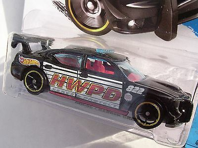 2014 Hot Wheels 48/250. BLACK Dodge Charger Drift Police Car. NEW in Package!