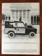 Vintage 1964 Original Print Ad LAND ROVER 88 Station Wagon SUV Honneur Et Patrie