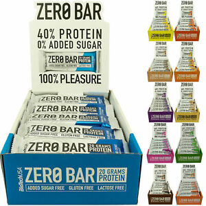 BIOTECH USA ZERO BAR confezione da 20 barrette proteiche GUSTI VARI no zuccheri
