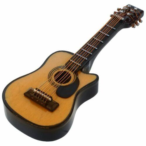 01.12 Puppenhaus Miniatur Musik Instrument Akustik Gitarre Gelb Und R7N2