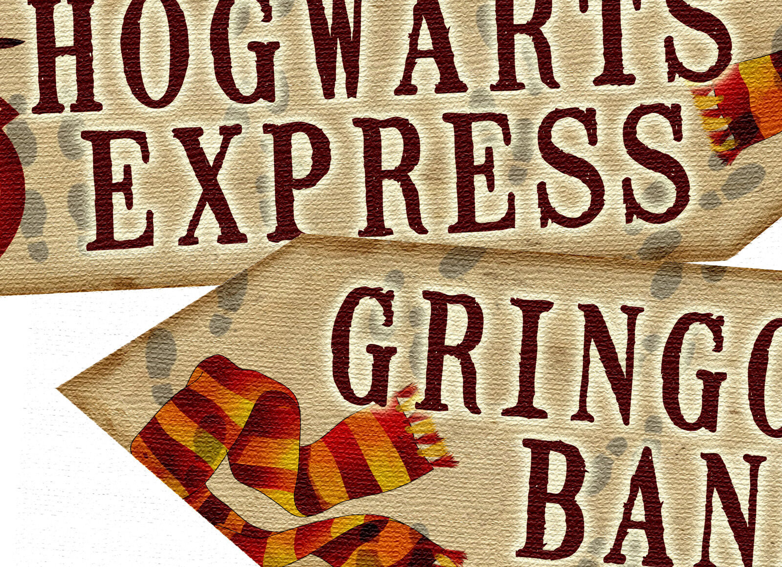 Set of 5 Harry Potter Arrows//Signs Prop PRINTED Party//Room Decoration 350gm Card