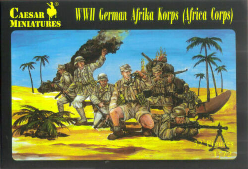 German Afrika Afrikakorps WWII-Caesar Miniatures H070-Échelle 1//72