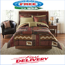 Mainstays Cabin Bed In A Bag Coordinated Bedding Set 8Pc King Size