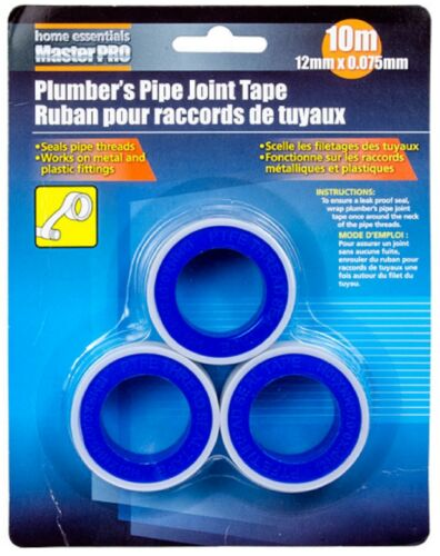 NEW FAST CANADIAN SHIPPING 3 ROLLS PLUMBER/'S PIPE JOINT TAPE #83793