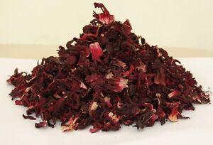 Organic Dried Hibiscus Flowers Loose Leaf Herbal Tea Brew
