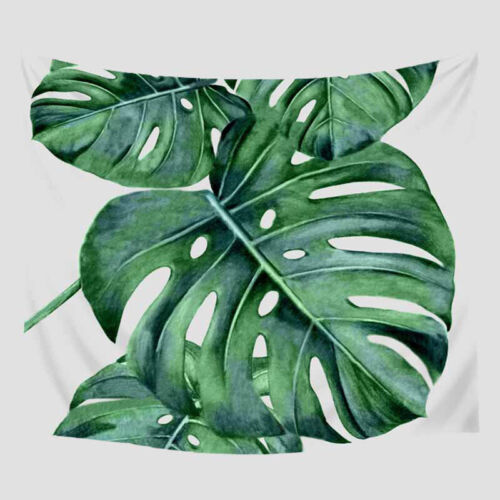 Indian Green Leaf Tapestry wall hangings Beach home Décor Bohemian Indoor Picnic