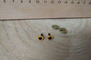 10 mm SICHERHEITSAUGEN  1 Paar nach EN 71-3 gelb AMIGURUMI Augen
