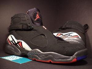 classic fit 9bab4 02510 Image is loading Nike-Air-Jordan-VIII-8-Retro-BLACK-RED-
