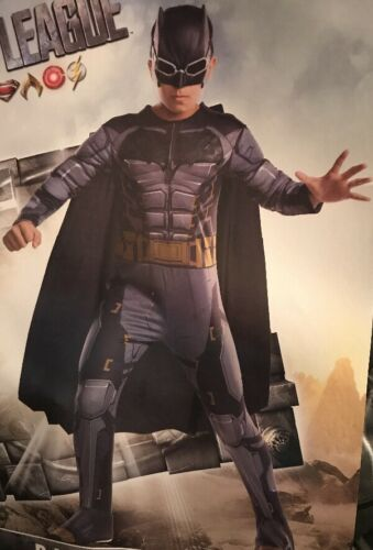 NWT Rubies Justice League Deluxe Padded Batman Boys Costume Large 12-14