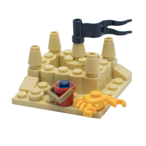 LEGO Beach Sand Castle for Minifigure with Crab and Bucket